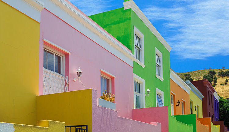 maisons colorees du quartier Bo-Kaap
