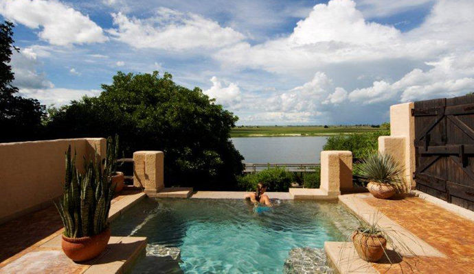 suite avec piscine privee chobe game lodge