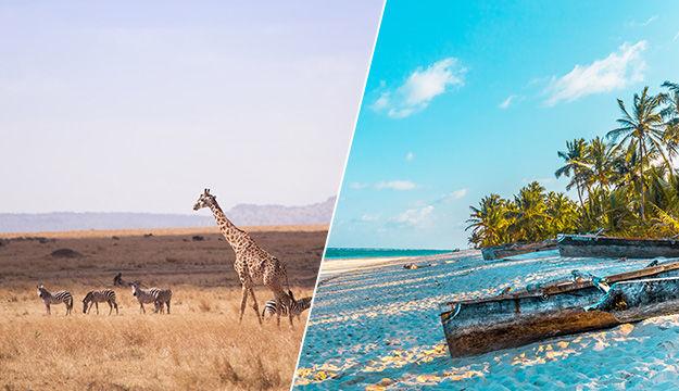 Combiné d'exception : du Masai Mara aux plages de sable fin