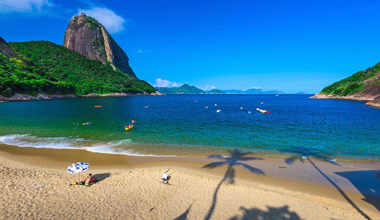 Praia Vermelha avec vue sur le Pain de Sucre