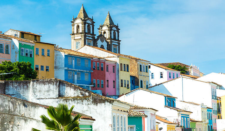 les maisons colorees de Salvador de Bahia