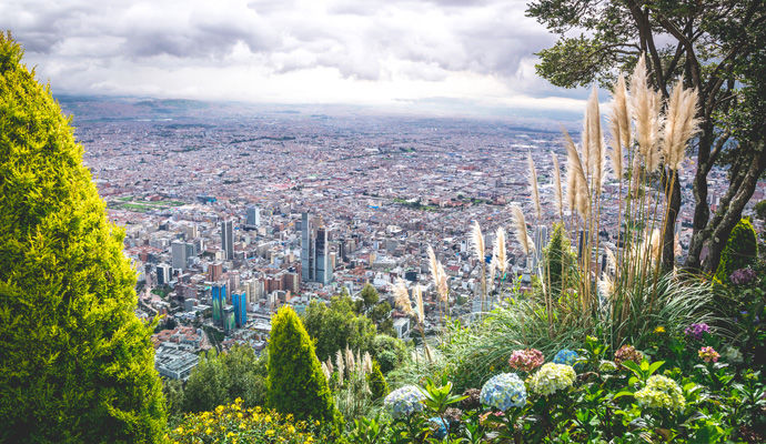 Bogota vue de la montagne Maserrate