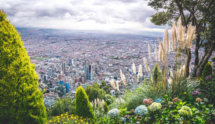 Bogota vue de la montagne Monserrate