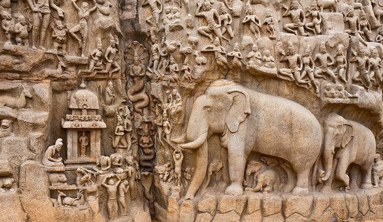 Mahabalipuram La Penitence d Arjuna