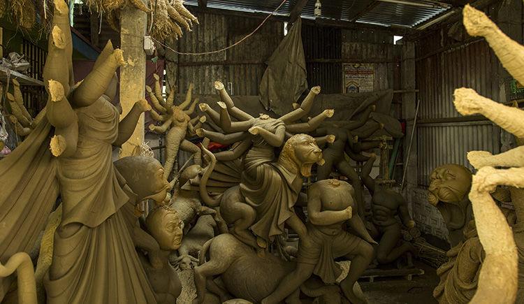 confection des idoles de Kumartuli