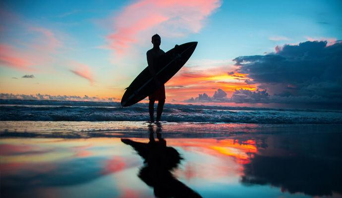 plage sunset