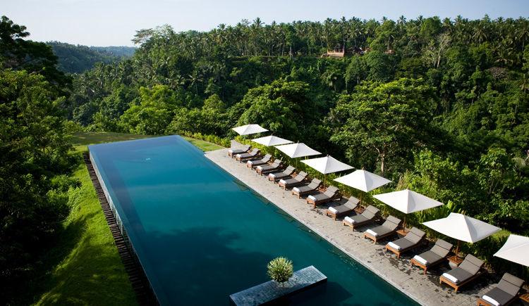 Nusa Dua / Ubud Hôtels Melia Bali et Alila  Alila piscine