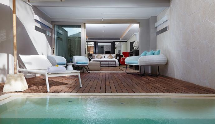 suite terrasse piscine