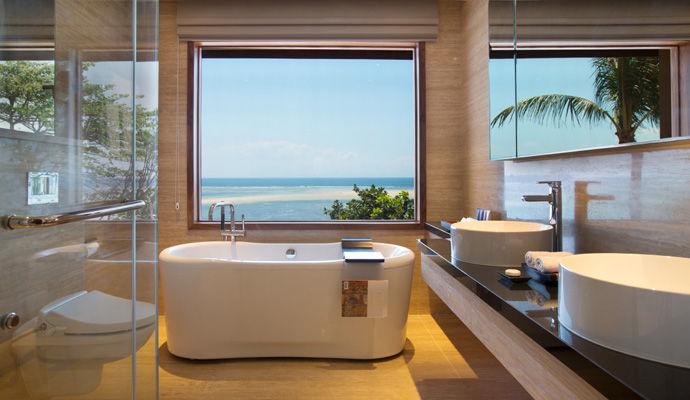 salle de bains chambre vue mer