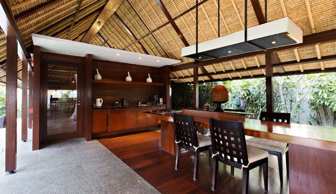 villa salon ouvert