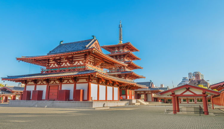 Osaka temple Shitenno ji