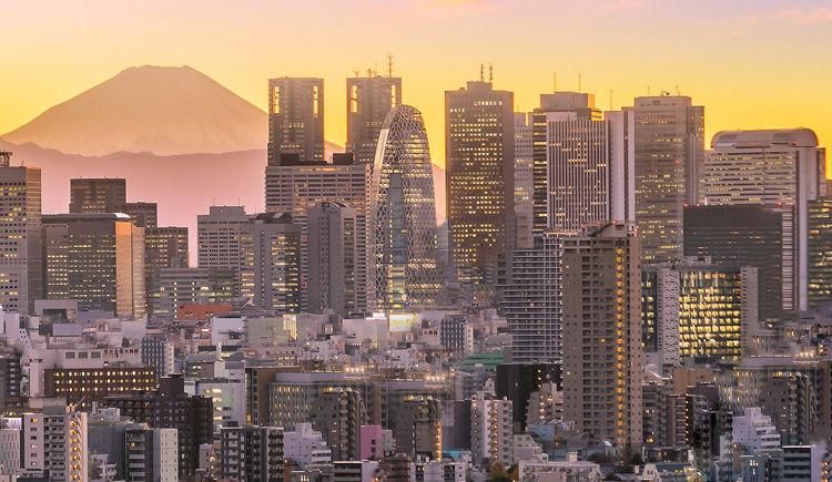 Tokyo avec vue sur le Mont Fuji