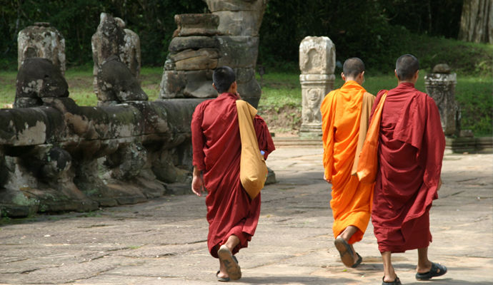 monks au laos