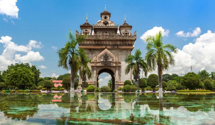 Patuxai a Vientiane