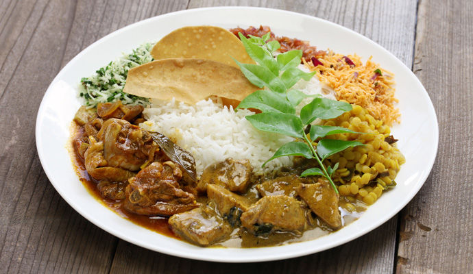 plat de riz au curry