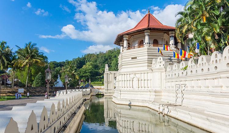 Kandy temple de la dent de Buddah