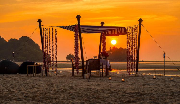 diner romantique sur la plage