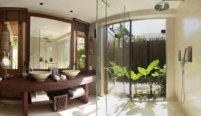 salle de bains garden pool suite