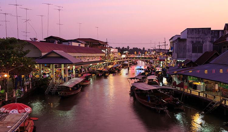 marche flottant Samut Songkhram