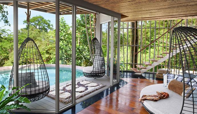 Tree Pool House vue piscine