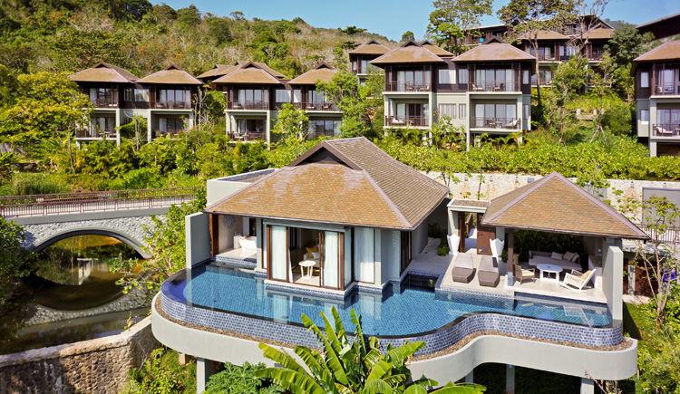 villa avec piscine et vue ocean