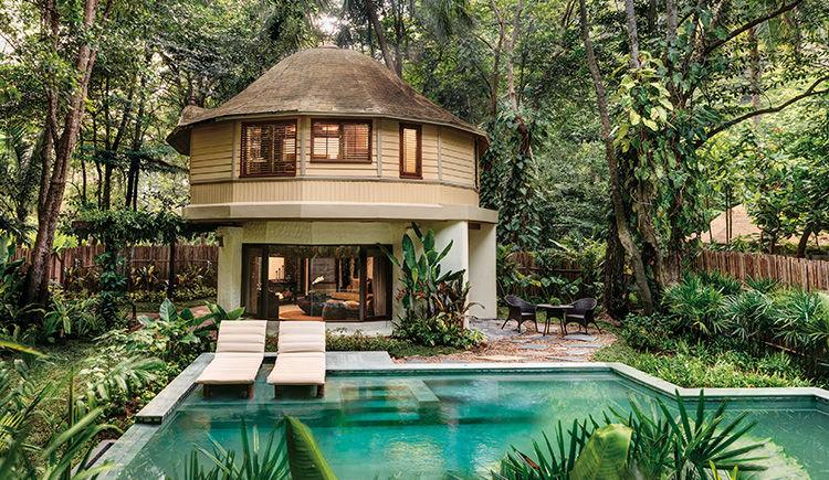 Pavillon avec piscine