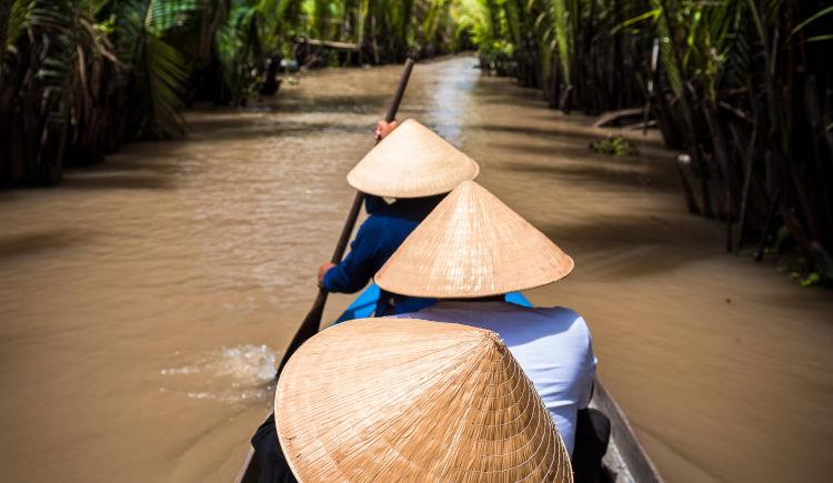 Delta de Mekong bateau