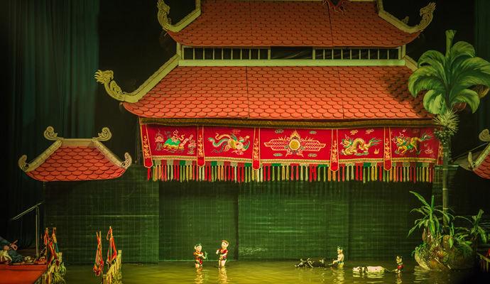spectacle des marionnettes sur eau Hanoi