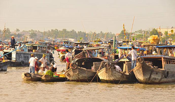 marche flottant delta du mekong