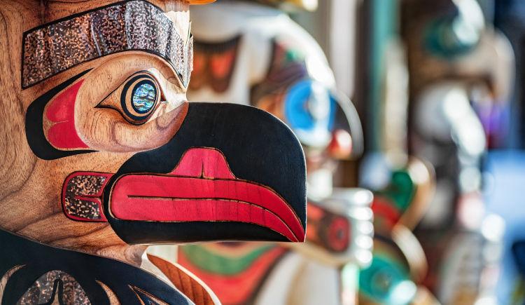 Totem culture de Skagway Alaska