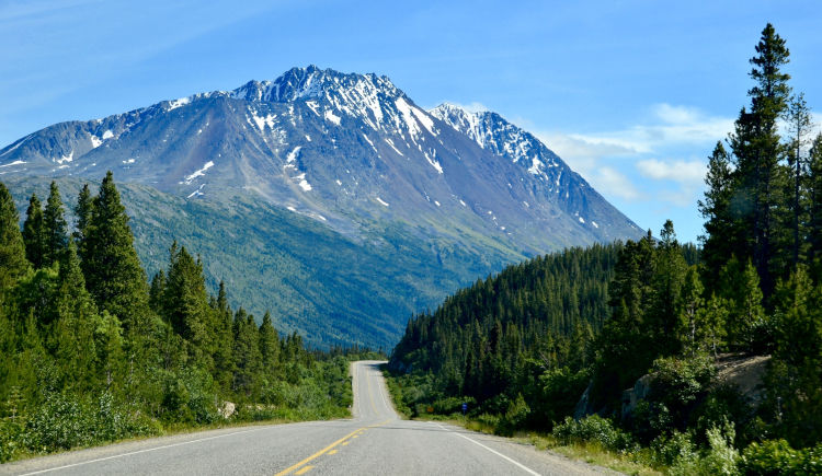 Route Klondike Highway Skagway Yukon