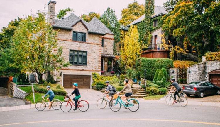 Tour de ville a velo a Montreal