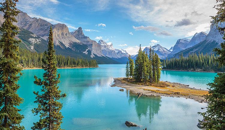 Lac Maligne du Parc National de Jasper