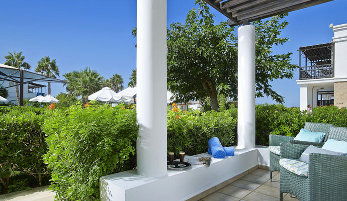 terrasse chambre double vue jardin