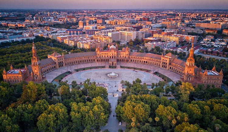 la Plaza de Espagna de Seville