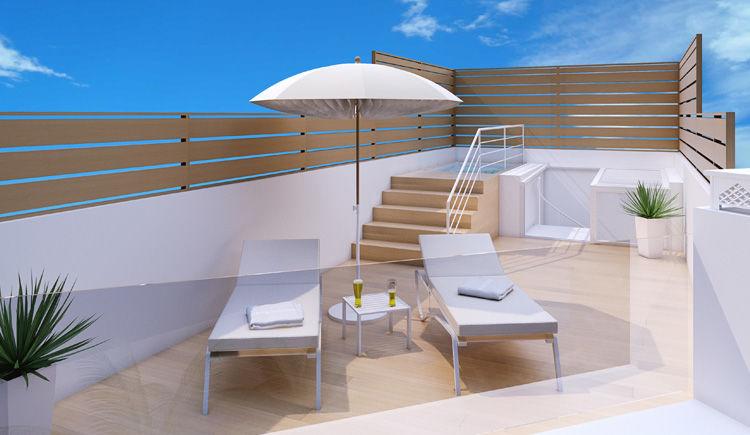 terrasse du penthouse