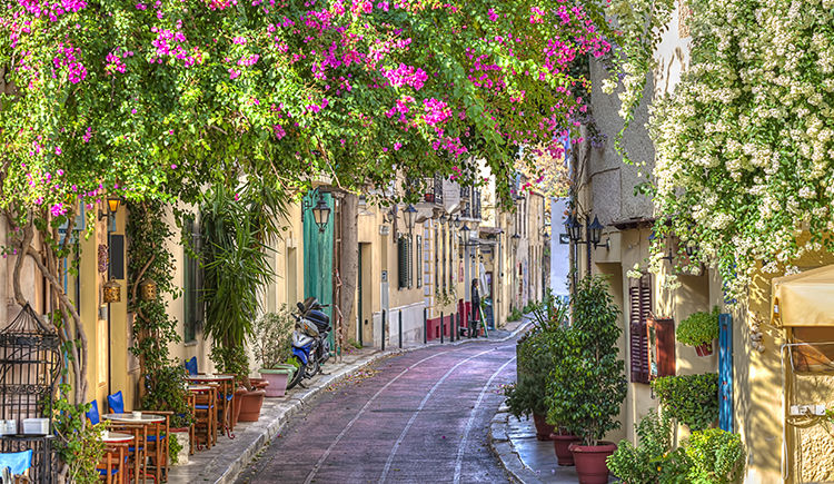 Quartier pittoresque de la Plaka