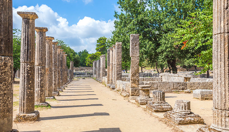 Olympie ruines