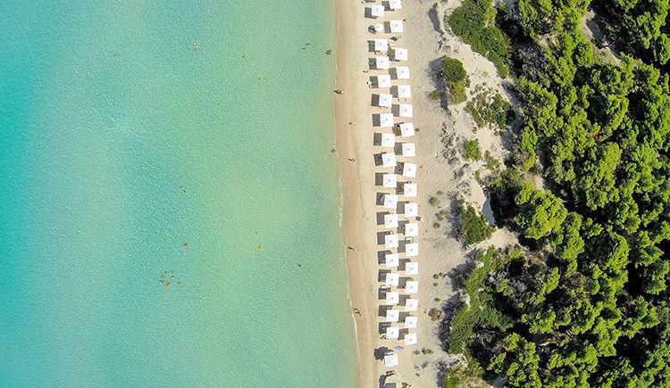 Sani Beach plage