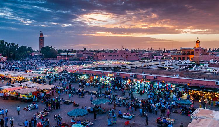 Marrakech place Djemaa el Fna