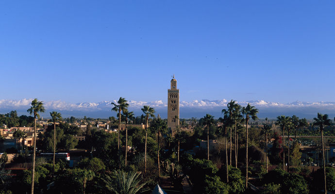 Marrakech, de la Médina aux pieds de l'Atlas