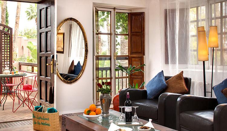 chambre Sultane salon et terrasse