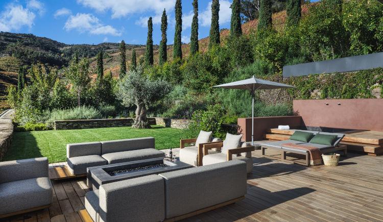 Vineyard garden suite terrace