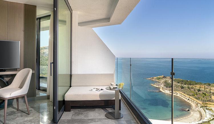 chambre front de mer avec terrasse