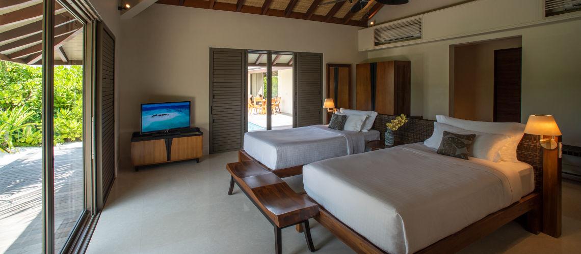 two bedroom beach villa twin