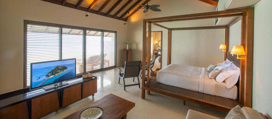 two bedroom water villa master