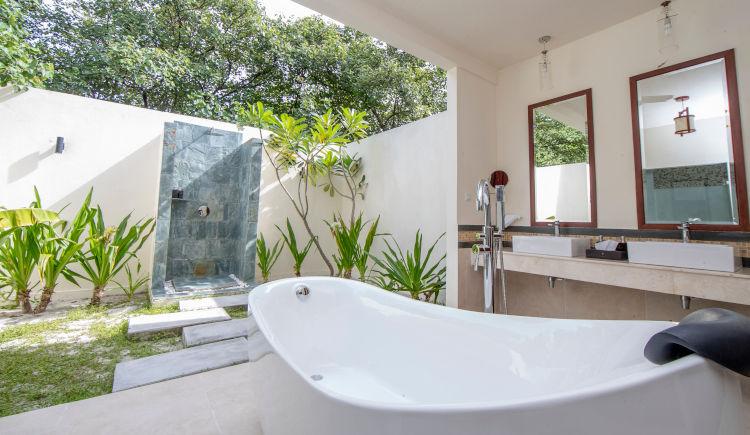 salle de bain beach villa