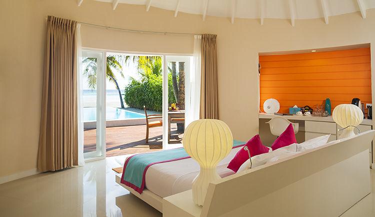 chambre Deluxe Beach Villa avec piscine privee