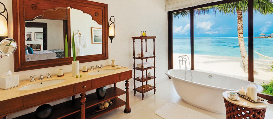 salle de bains beach villa
