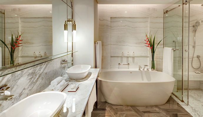 salle de bains beach front suite